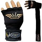WINMAN Guantes de boxeo para mano de boxeo con correas largas elásticas acolchadas para la muñeca Muay Thai MMA artes marciales Punching Speed Bag vendajes de entrenamiento debajo de los guantes