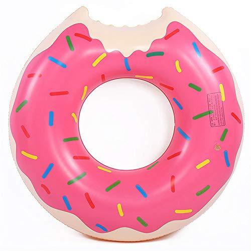 Ytt Aufblasbare Schwimm Donut Reihe Raft Pool Schwimmen Erwachsene Kinder Spielzeug Aufblasbare PVC-Luftmatratze Schwimmbecken Sommer-Strand-Nichtstuer,Rosa,120cm