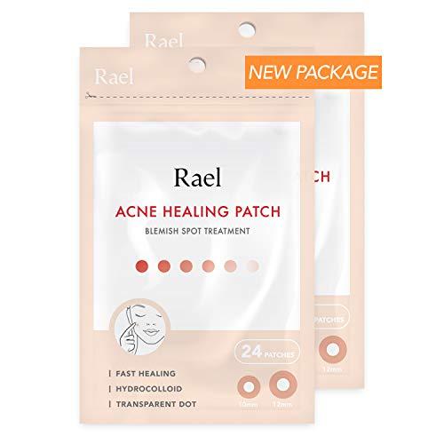Rael de acné hidrocoloideo parche de curación 2 paquete (invisible, 48 Count)