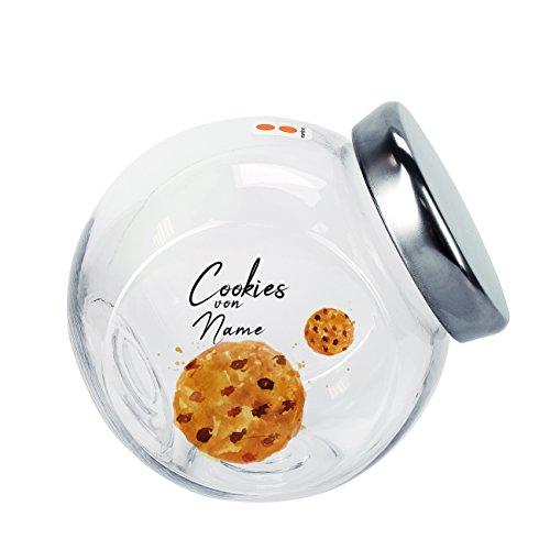 Herz und Heim® Bedruckte Keksdose - Cookies - mit Namen des Keksliebhabers