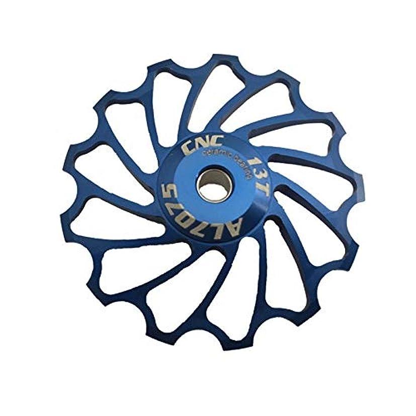 インレイバスケットボールぎこちないPropenary - Cycling bike ceramics Jockey Wheel Rear Derailleur Pulley 13T 7075 Aluminum alloy bicycle guide pulley bearing bicycle parts [ Blue ]