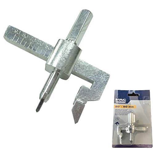 MAC Allister Adjustable Tile Hole Cutter, 20mm to 90mm - Electric Drill Bit