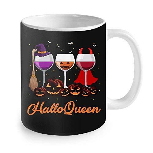 Regalo divertido de la taza de Halloween Copas de vino de Halloqueen Regalo de Halloween Taza de café de Halloween 11oz