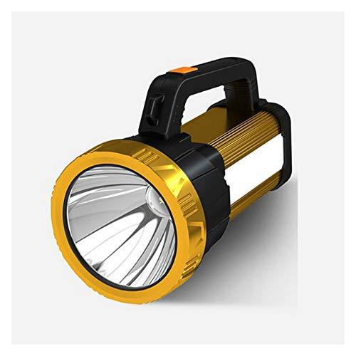 Tira de luz LED Foco portátil Ultra Brillante LED LED Linterna Linterna con luz Lateral Batería Recargable incorporada Luz roja + Luz Blanca Tira de luz (Emitting Color : T6)