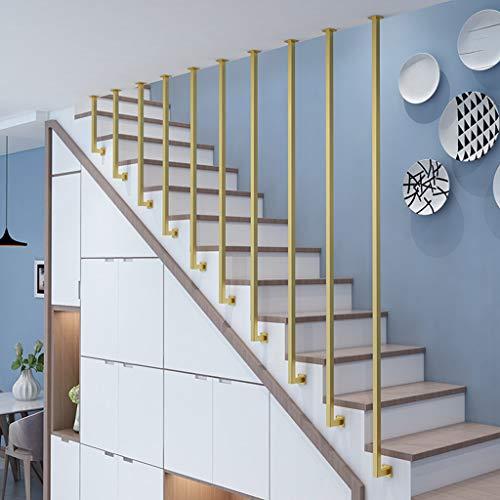 YUDE-Creative Barandilla de Escalera en Forma de L, tubería galvanizada, barandilla de Seguridad Antideslizante, Adecuada para escaleras, Villa (Opcional de Varios tamaños)