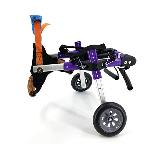 SYLPHID Adjustable Dog Wheelchair for Hind Legs Rehabilitation, for Dogs Weight 9 to 22 lbs, Wheelchair for Back Legs Lightweight