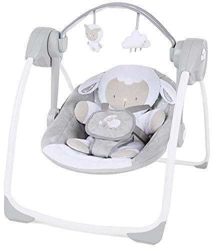 Bright Starts Ingenuity Comfort2Go Elektrische Babyschaukel mit Musik, Timer und Spielbogen, K12184