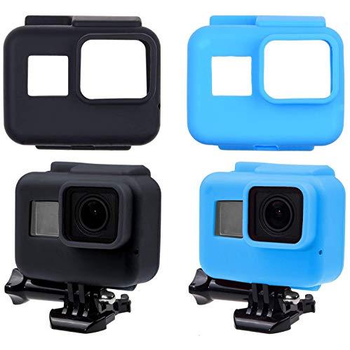 CamKix® siliconen hoezen compatibel met GoPro Hero 7/6/5 zwart - 2 beschermhoezen - bescherming voor uw GoPro Hero 7/6/5 zwarte camera en het frame - tegen stof, krassen en lichte schokken