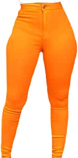 Womens High Waisted Skinny Stretch Jeans Pencil Pants Leggings