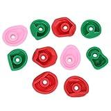 jadenzhou Empuñaduras de Pared de Roca Grandes de plástico PE, agarraderas de Escalada Multicolores, para presas de Escalada en Exteriores(Small 10 Pieces)