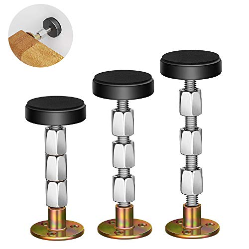 Adjustable Threaded Bed Frame Anti-Shake Tool,Headboard Stoppers,Bedside Antishake Telescopic Support Stabilizer for Room Wall, Beds, Cabinets, Sofas 32-112mm (3Packs)
