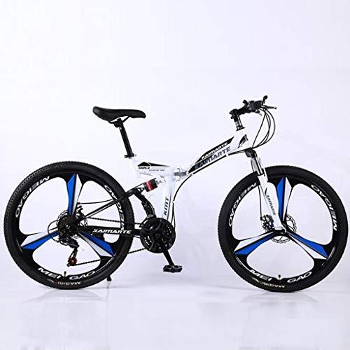 Bicicleta de montaña Mountainbike Plegable de 26' bicicletas de montaña de la rueda de acero al carbono MTB Barranco bicicletas Unidad de doble freno de disco completo Suspensión 21 24 27 velocidades
