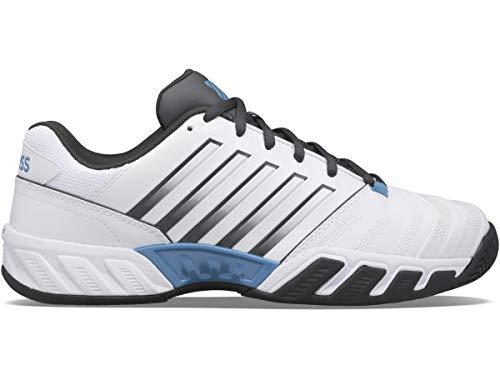 K-Swiss Performance Herren Bigshot Light 4 Tennisschuh, White/Dark Shadow/Swedish Blue, 42.5 EU