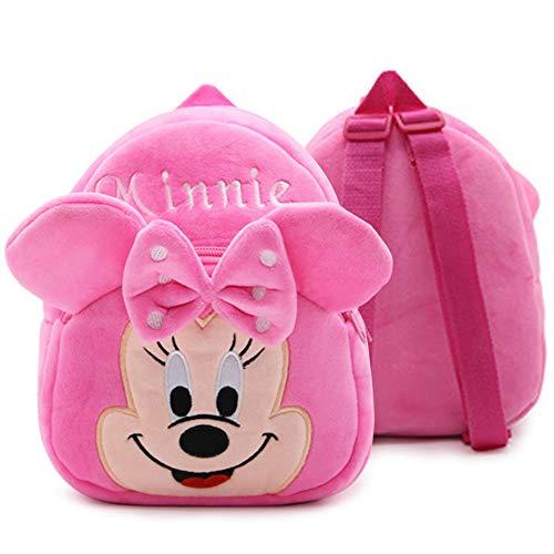Babioms Zainetto Bimba Asilo, Zaino per Bambini, Minnie Mouse Zaino per Bambina, Carino Animale Scuola Borsa in Peluche 3D per Scuola Materna Viaggio