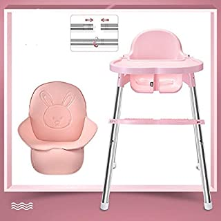 Baby High Chair, Baby table baby chair portable multifunctional highchairs seat back home (Color : Pink)
