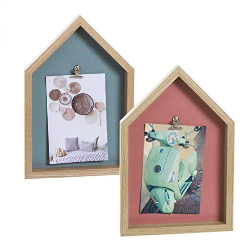 Vidal Regalos Bilderrahmen-Set mit 2 Aufhängern für Fotos, 2 Farben, 27 cm