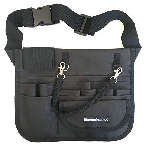"Medical Organizer Belt (Fits 26""- 34"" Waist) - Nurse Fanny Pack with Stethoscope Holder and Tape Holder - Premium Utility Nurse Belt, EMT, CNA, NP, PA - Multi Compartment Nurse Apron Hip Bag"
