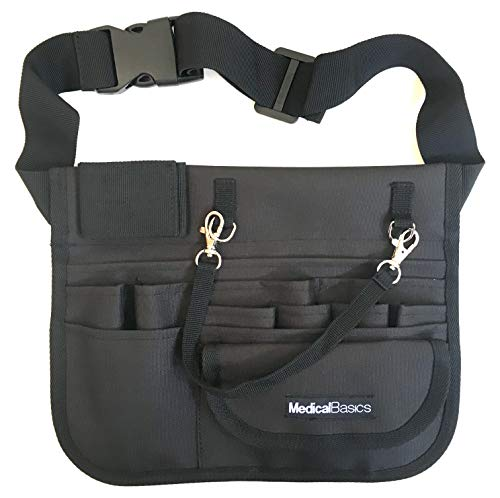 Medical Organizer Belt (Fits 26'- 36' Waist) - Nurse Fanny Pack with Stethoscope Holder and Tape Holder - Premium Utility Nurse Belt, EMT, CNA, NP, PA - Multi Compartment Nurse Apron Hip Bag