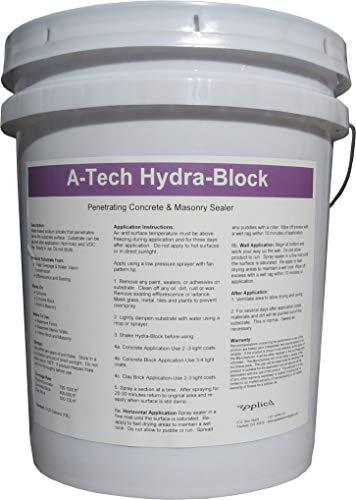 A-Tech Hydra-Block Concrete Basement Wall and Floor Sealer -5 Gallon Pail-Seals Basements Against Water Vapor, Water and Radon
