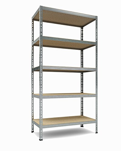TKT Heavy Duty Shelving 5-Shelf Shelving Unit, 1.925lbs Capacity, 36' Width x 72' Height x 18' Depth