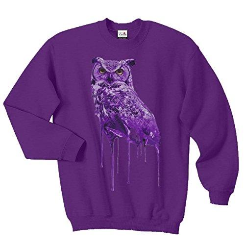 Ovoxo Sweatshirt Jumper Eule Drake Lil Wayne YMCMB Swaetshirt Fresh Dope Herren Damen Gr. M / 96,52 cm-101,60 cm, violett