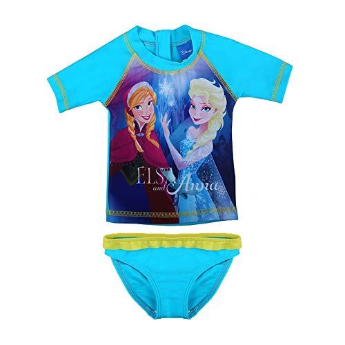 Disney Mädchen Die Eiskönigin, Frozen, ELSA und Anna Badeanzug, Set, blau, Größe 92, 2 Jahre
