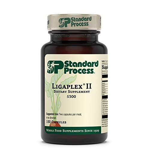 Standard Process Ligaplex II - Whole Food RNA Supplement and Manganese Supplement, Bone Support, Bone Health and Bone Strength with Phosphorus, Calcium Lactate, Beet Root, and More - 150 Capsules