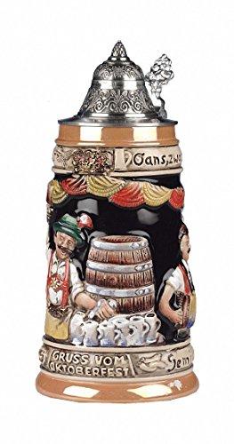 King Jarra de cerveza alemana Oktoberfest, jarra 0,5 litrosKI 09-Z 0,5L