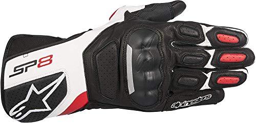 Alpinestars SP-8 v2 Handschuh schwarz/weiß M - Motorradhandschuhe