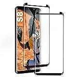 Galaxy S8 Panzerglas Schutzfolie, [2 Stück] Hohe Qualität Gehärtetem Glass [Hülle Friendly] [9D R&e Kante] [HD Clear] [Blasenfrei] Panzerglasfolie für Samsung Galaxy S8