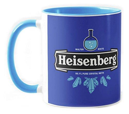 Camisetas La Colmena 121-Taza Ceramica, Breaking Bad Heisenberg Crystal Meth (Olipop) Azul