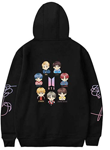 YIMIAO Mujer Bangtan Boys Love Yourself Sudaderas con Capucha Cartoon Hip Hop Hoodie...