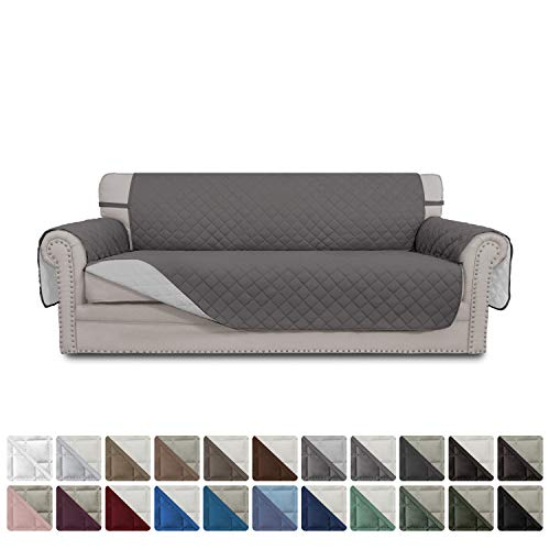 Easy-Going Sofa Slipcover Reversible Sofa Cover Water Resistant Couch Cover Furniture Protector with Elastic Straps for Pets Kids Children Dog Cat(Oversized Sofa, Gray/Light Gray)