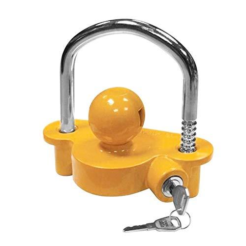 ADFIOADFH Universal Anti-Robo Lock Hitch Lock Lock Trailer Parts Tow Ball Caravan Camping Anti Robo Trailer Accesorios (Color : Yellow)