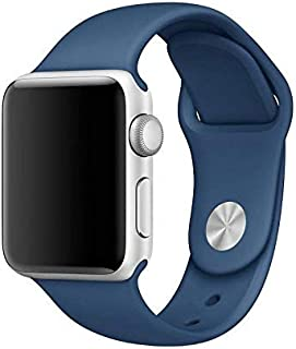 Sport Watch Band For Apple Watch 42 mm,Soft Silicone Strap Replacement Wristbands For Apple Watch Royal Blue