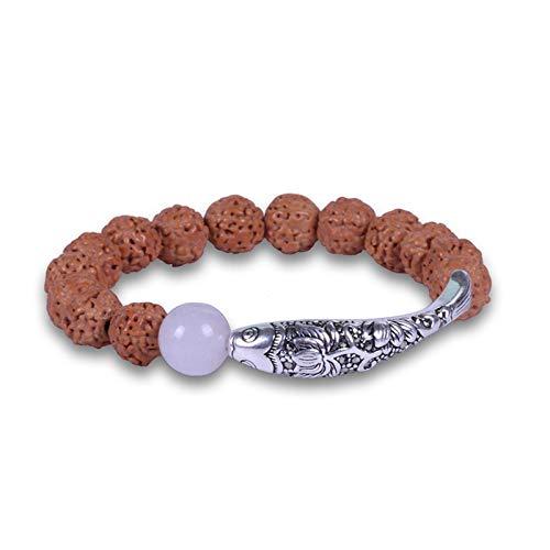 Braclets Armbänder für Frauen Chinesische traditionelle Samen Perlen Anemone und Fischfrauen Armband ethnischer Stil eleganten Yoga-Schmuck, die beste Wahl for Urlaub, Geschenke for Verwandte und Freu