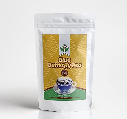 Blauwe thee 100 g, grootverpakking   blauwe vlindererwtthee biologische teelt uit Thailand   hele bloemen…