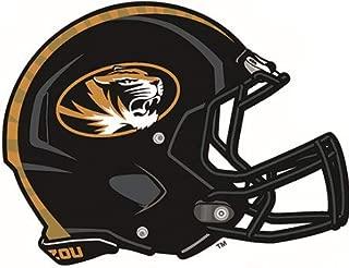6 inch Football Helmet Decal MU University of Missouri Mizzou Tigers Logo MO Removable Wall Sticker Art NCAA Home Room Decor 6 1/2 by 5 inches