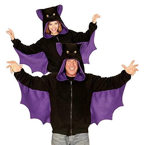 Widmann - Kostüm Fledermaus, Fleecejacke mit Kapuze