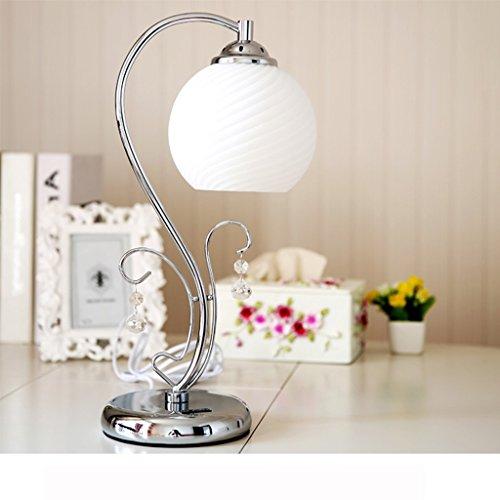 Bonne chose lampe de table Lampe de salle de mariage Lampe de chevet de chambre chaude Cadeaux de mariage Lampe de bureau simple d'éclairage créatif ( Couleur : Blanc )