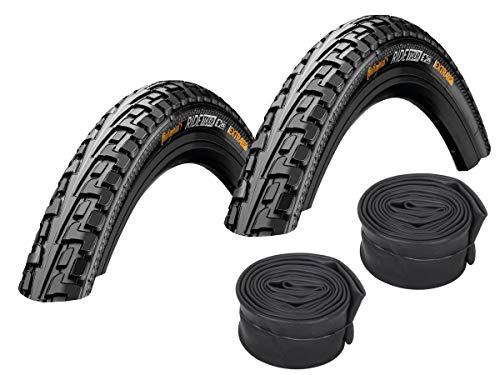 Continental Set: 2 x Fahrrad Reifen Ride Tour schwarz 42-622 / 28x1.60 + Conti SCHLÄUCHE Autoventil