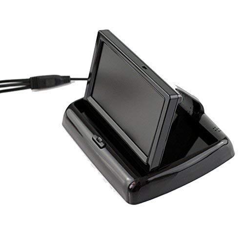 BGoodVision 4.3 Zoll Auto PKW Dash Fold-fähig TFT LCD Monitor für Rückfahrkamera Frontkamera Rückfahrsystem DVD Media Player Sicherheit Fahr mit 2 RCA Cinch Kanal