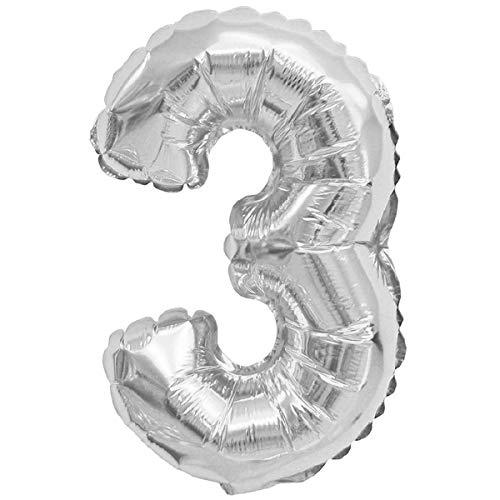 XXL LUFTBALLONS Folien-Ballons Heliumballons Buchstaben & Zahlen & Zeichen - 80CM GROßE Party-Dekoration XL für Geburtsag Hochzeit Feier - 3
