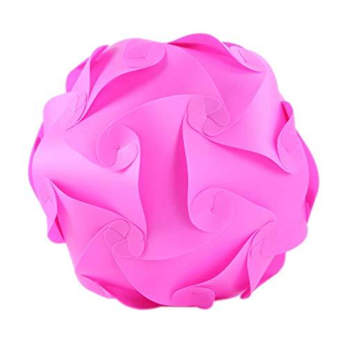 FICI Praktische 25cm DIY lampenkap Puzzelverlichting Infinity Lights Jigsaw Lights accessoires Lamphoezen benodigdheden, roze