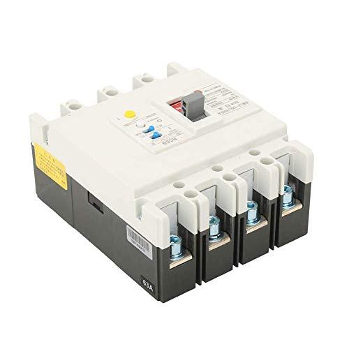 FYYONG Residual Circuit Breaker actual, fiable triturador 3P + N de corriente residual de seguridad Interruptor de protección diferencial de aire 800V 63A / 80A / 125A for la protección de circuitos (