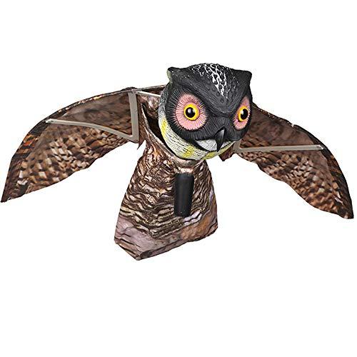 CNCBT Owl Lockvögel, Künstlich Owl Ultimative Scarecrow Owl Gefälschte Owl Köder Kunststoff-Laufwerk Heraus Vögel