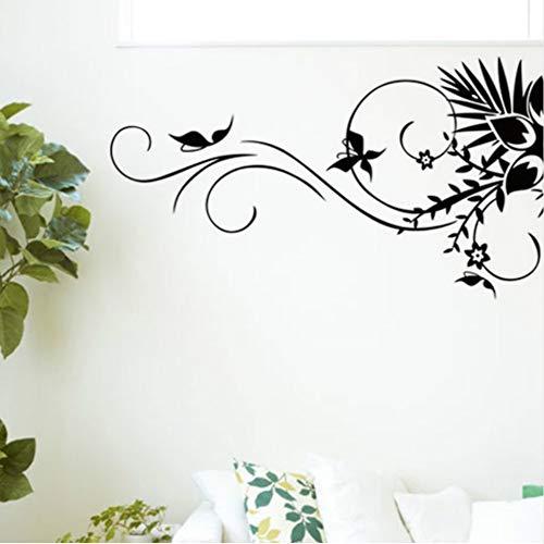Kreative Feste Blume Reben Muster Wandkunst Aufkleber Für Wohnzimmer Mode Wohnkultur Vinyl Aufkleber Wandbilder 57 * 90 Cm