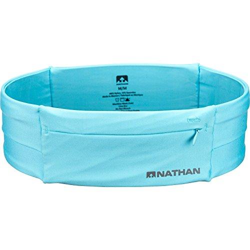 Nathan 7702 The Zipster Taillengürtel zum Laufen, Unisex, 7702, White (Blue Radiance), M