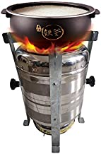 SUPERNOVA WINDPOWER Smokeless Wood Cook Stove,Domestic Chulha,Stainless Steel (Clear Colour)