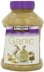 48 ounce plastic jar 100% California minced garlic Great quality